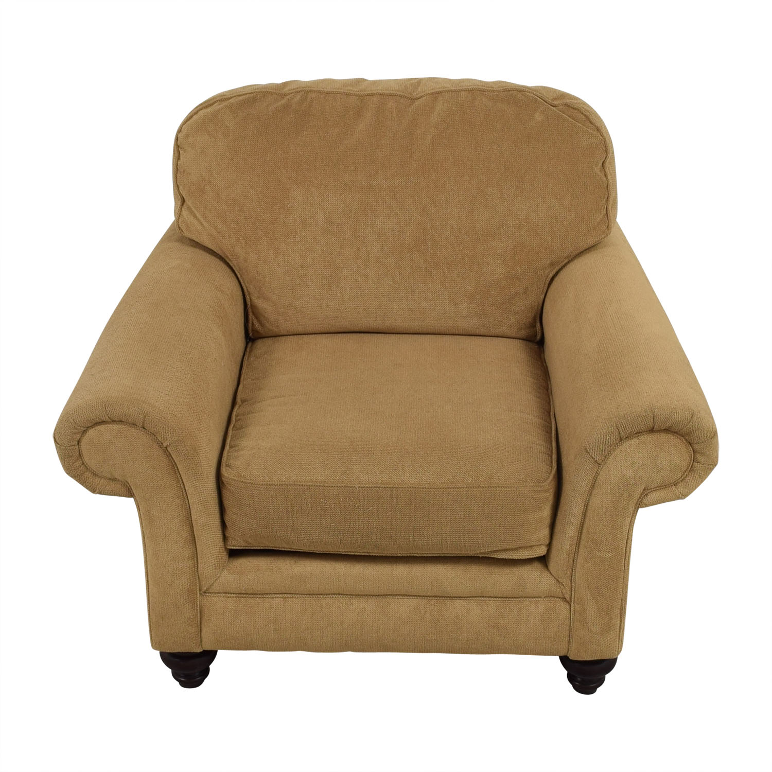 Broyhill Mustard Yellow Accent Chair with Curved Arms Broyhill