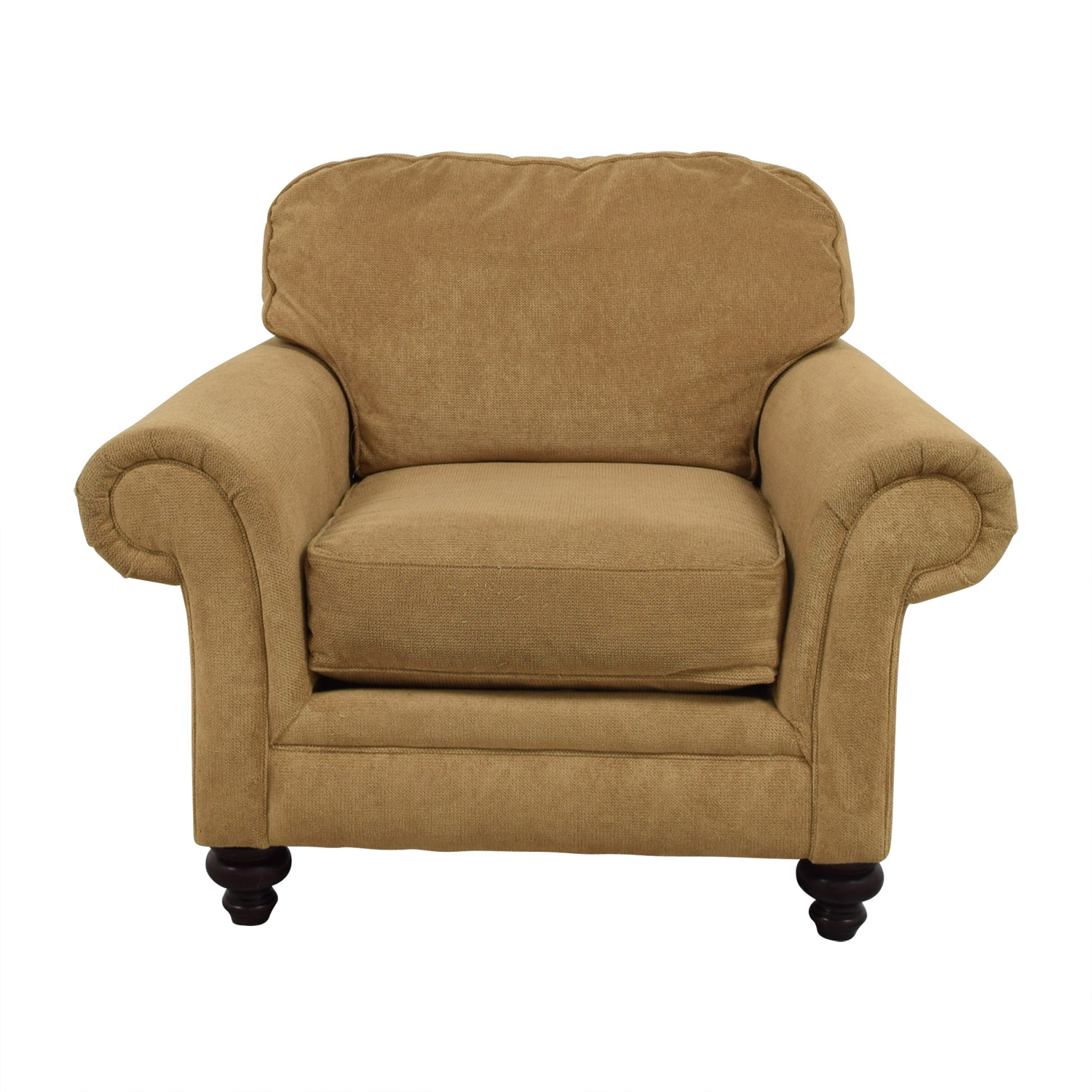 Shop Broyhill Mustard Yellow Accent Chair With Curved Arms Broyhill Chairs  ...