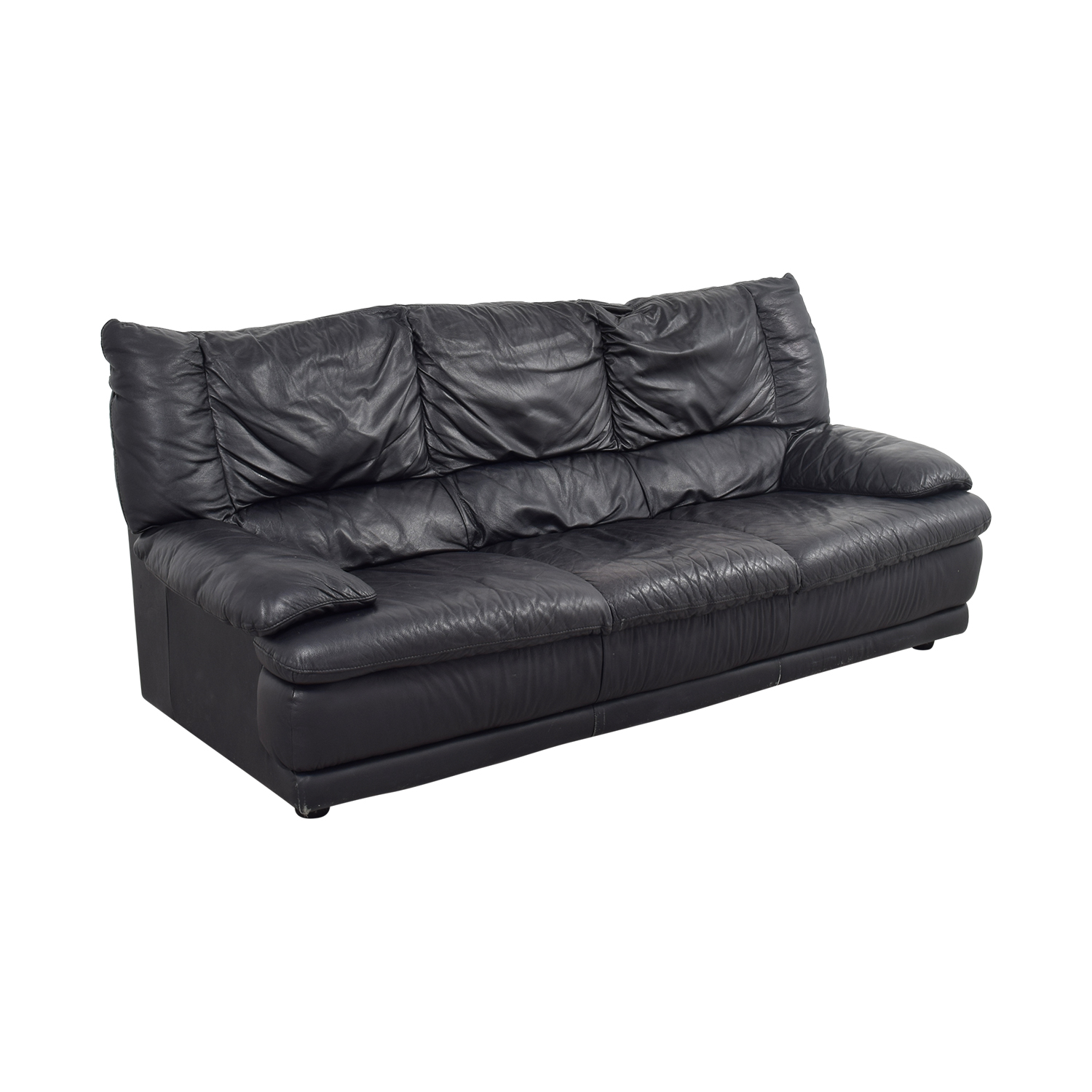 57 off ikea ikea black leather sofa sofas. Black Bedroom Furniture Sets. Home Design Ideas