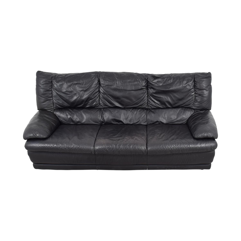 IKEA Black Leather Sofa / Classic Sofas