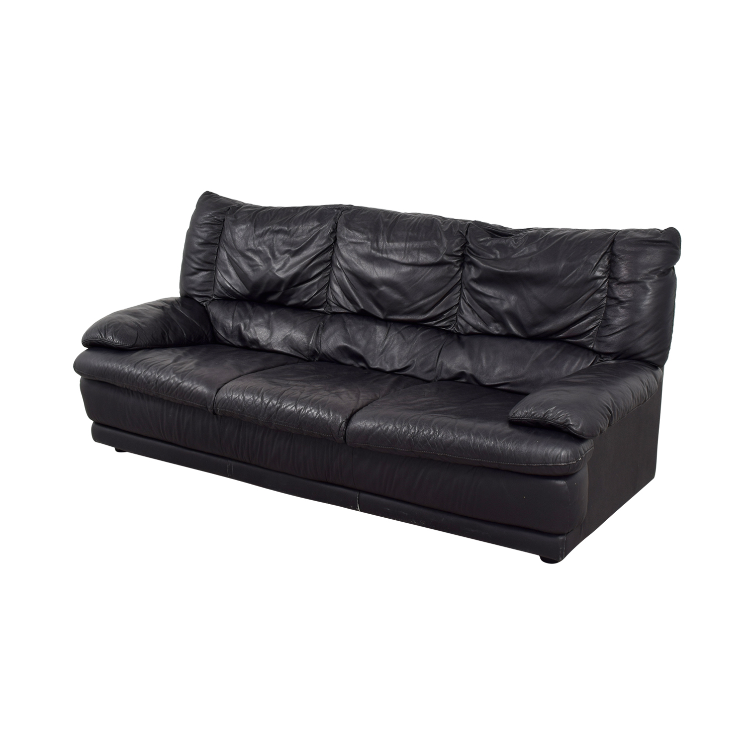 ... Shop IKEA IKEA Black Leather Sofa Online ...