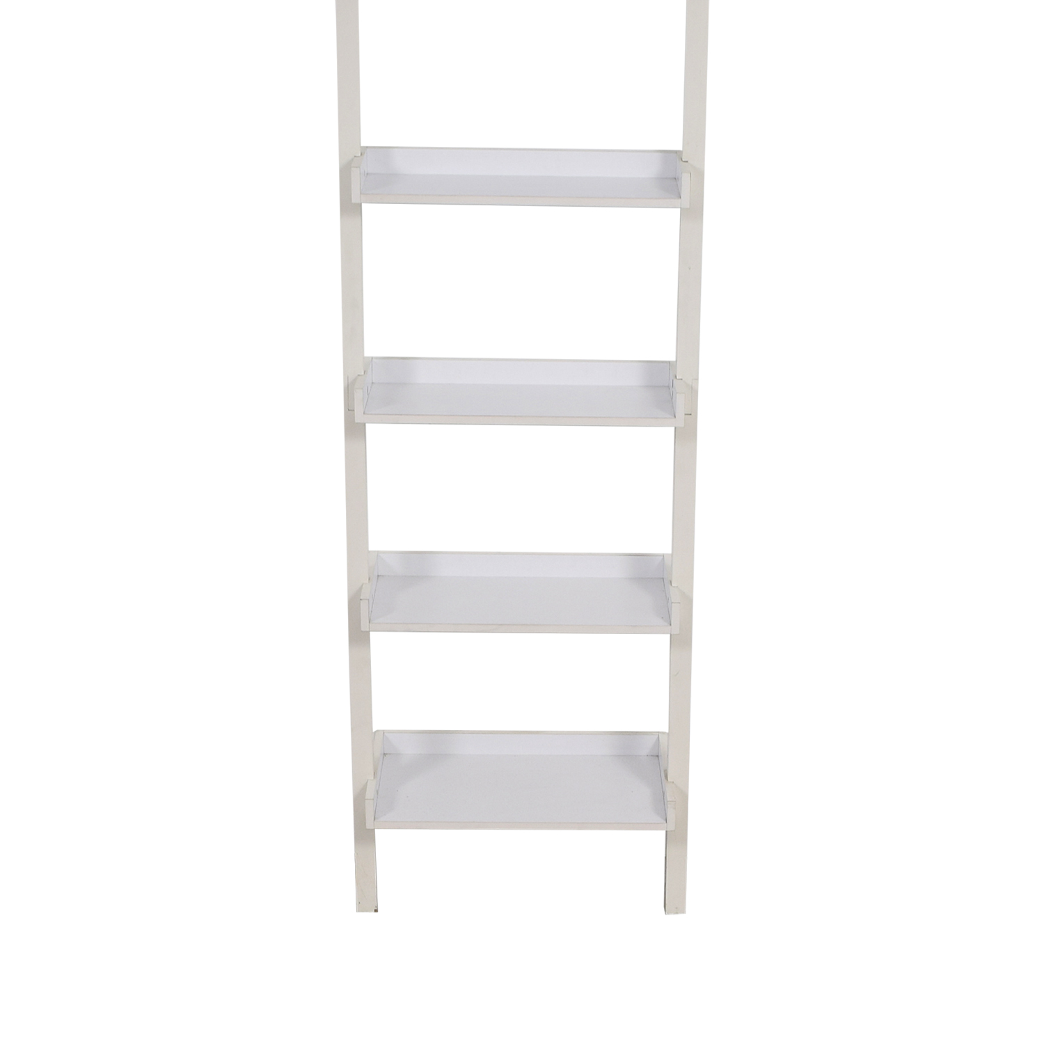 Container Store Container Store White Leaning Bookshelf dimensions
