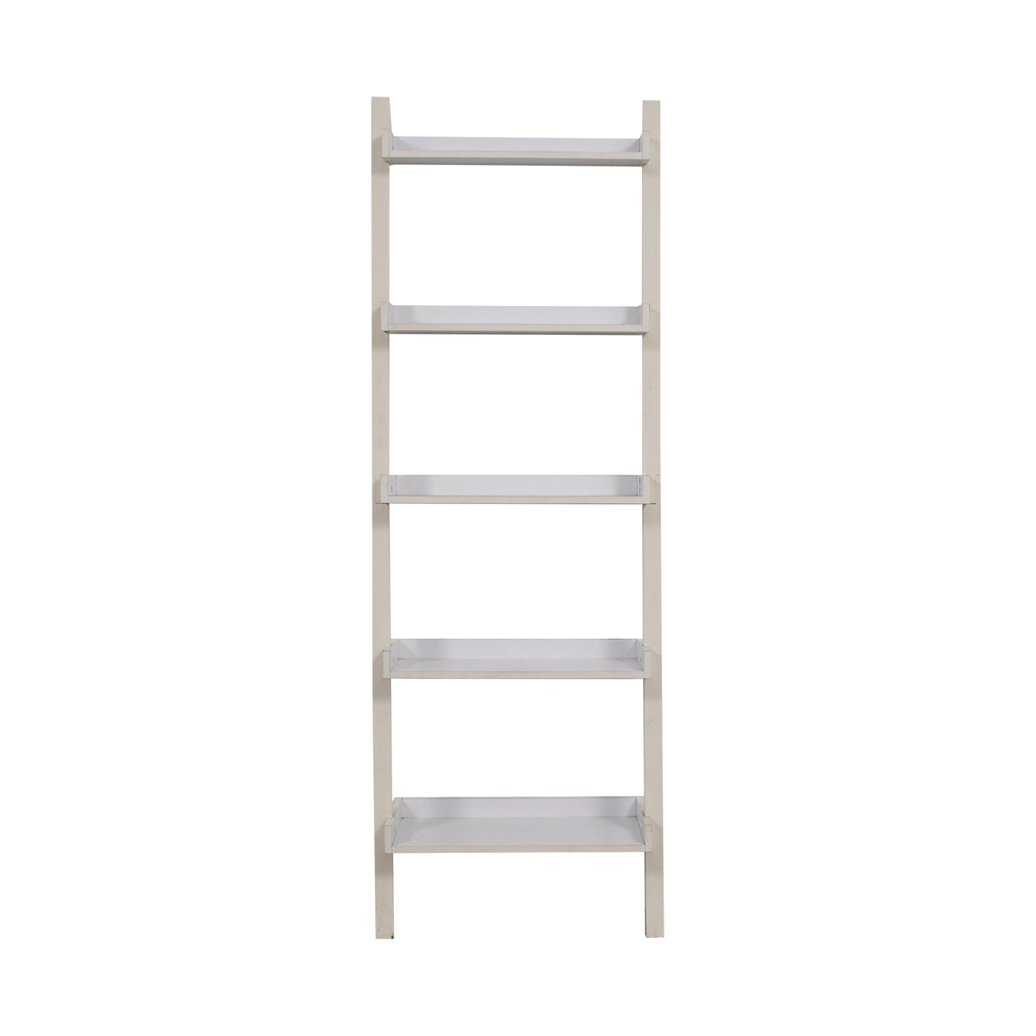 Container Store Container Store White Leaning Bookshelf Bookcases & Shelving