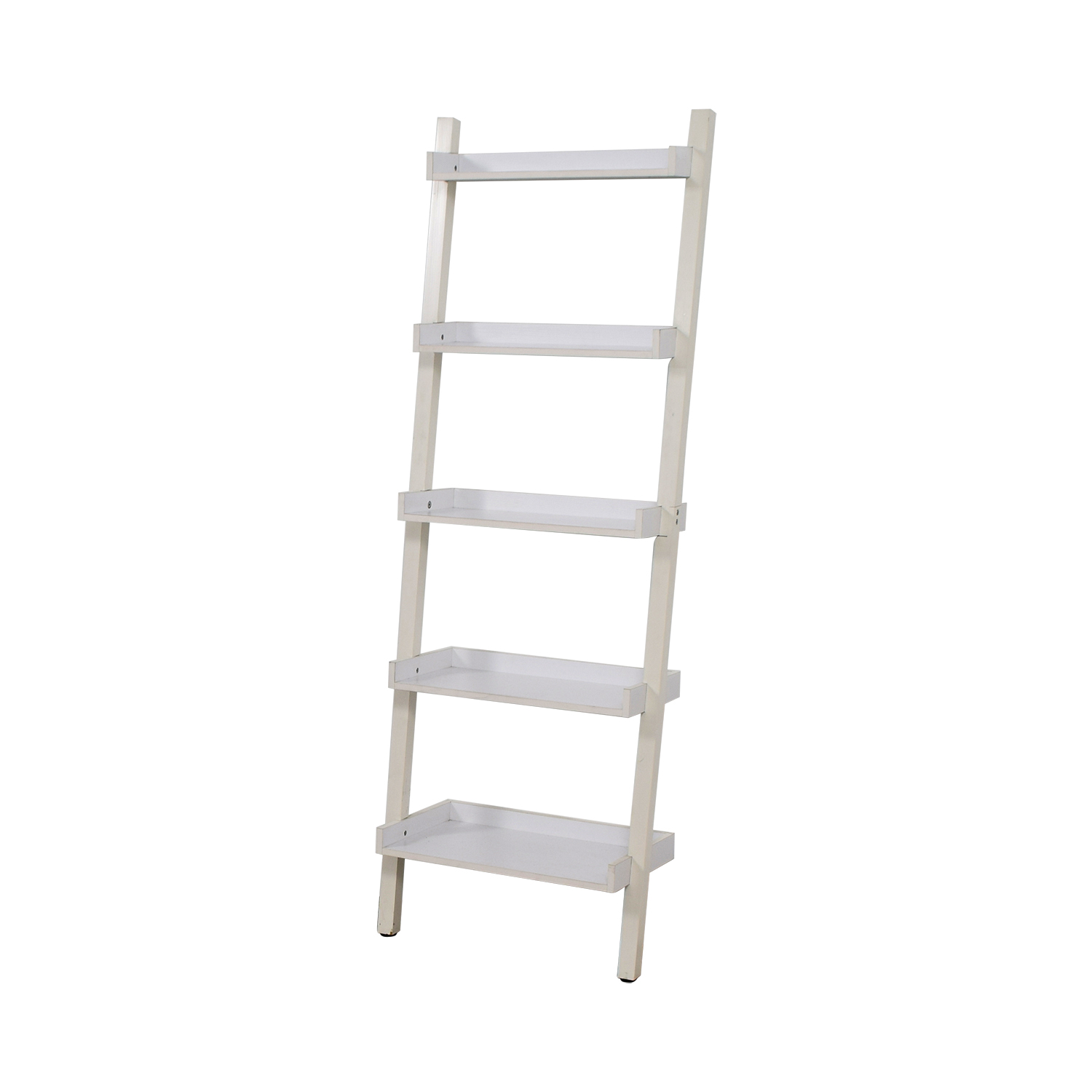 Container Store White Leaning Bookshelf Bookcases Shelving