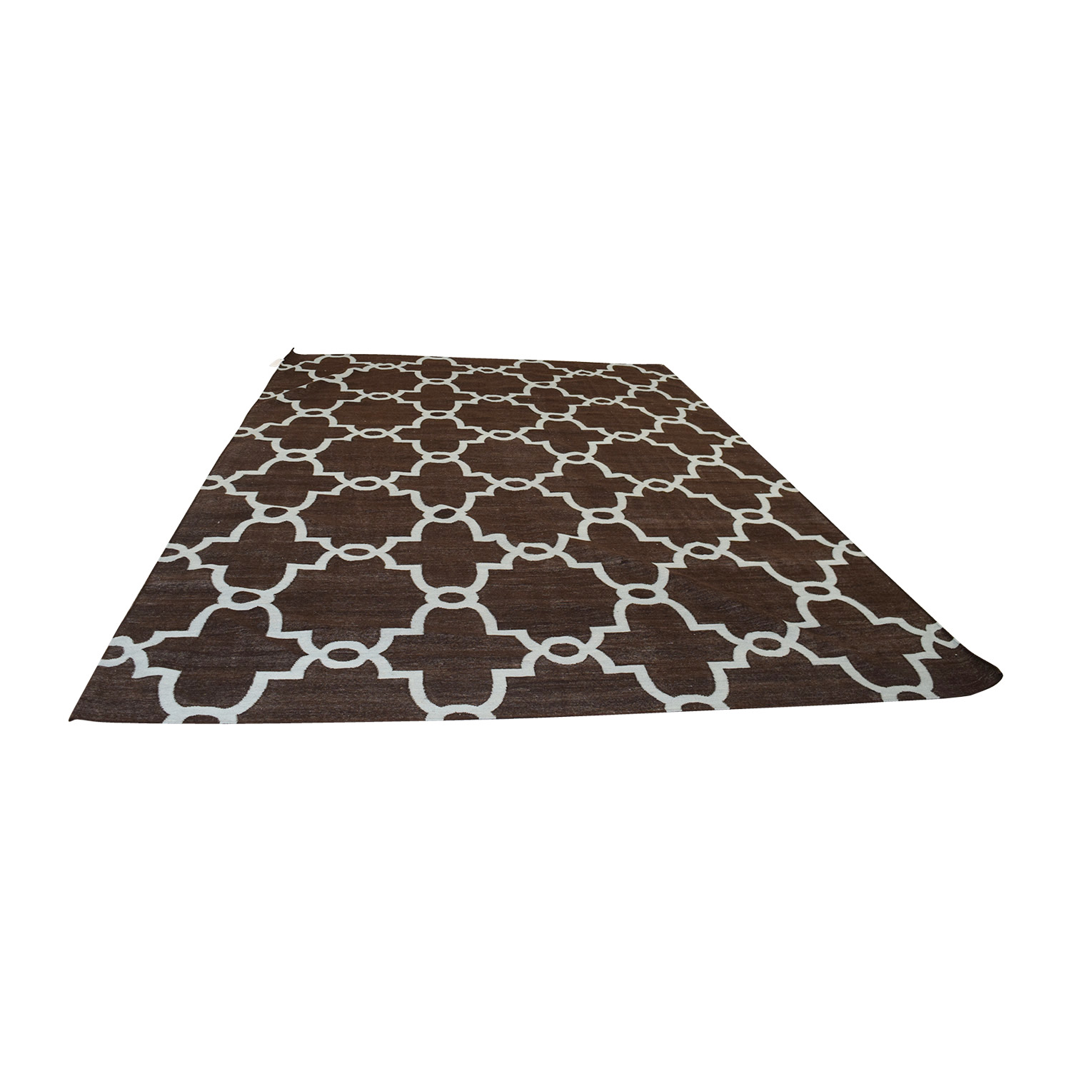shop Obeetee Brown Dhurrie Hand Knotted Wool Rug Obeetee Decor
