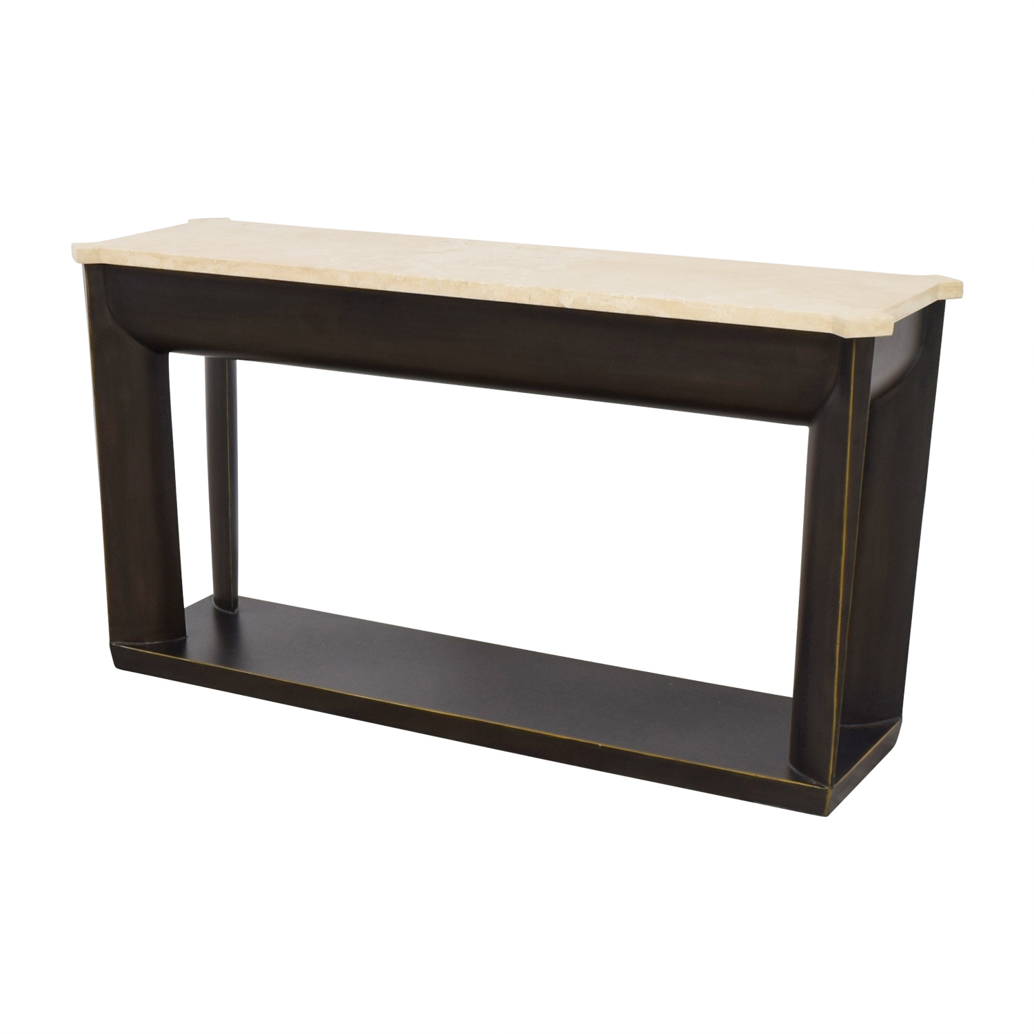 Superieur ... Shop Kriess Marble And Metal Foyer Table Kriess ...