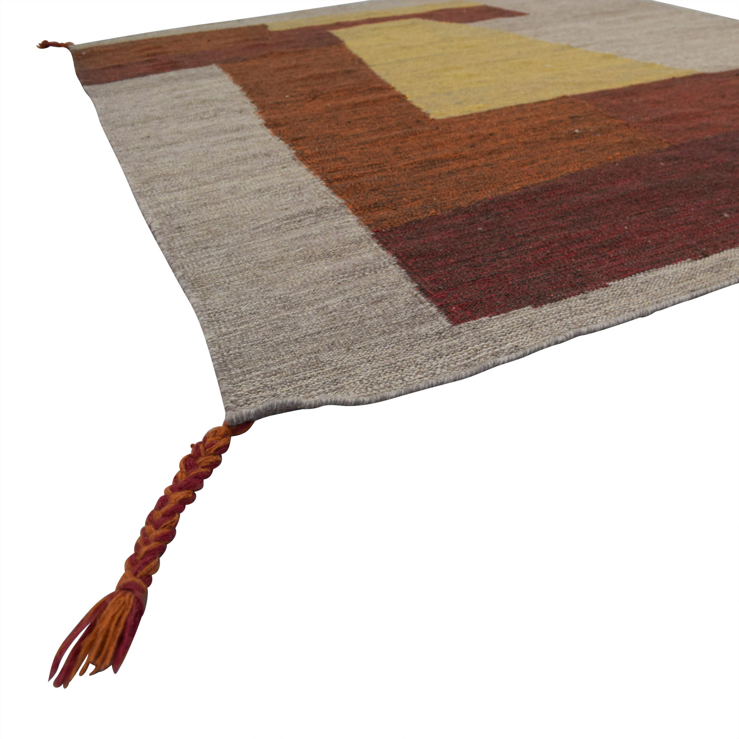 Obeetee Obeetee Color Block Wool Rug nyc