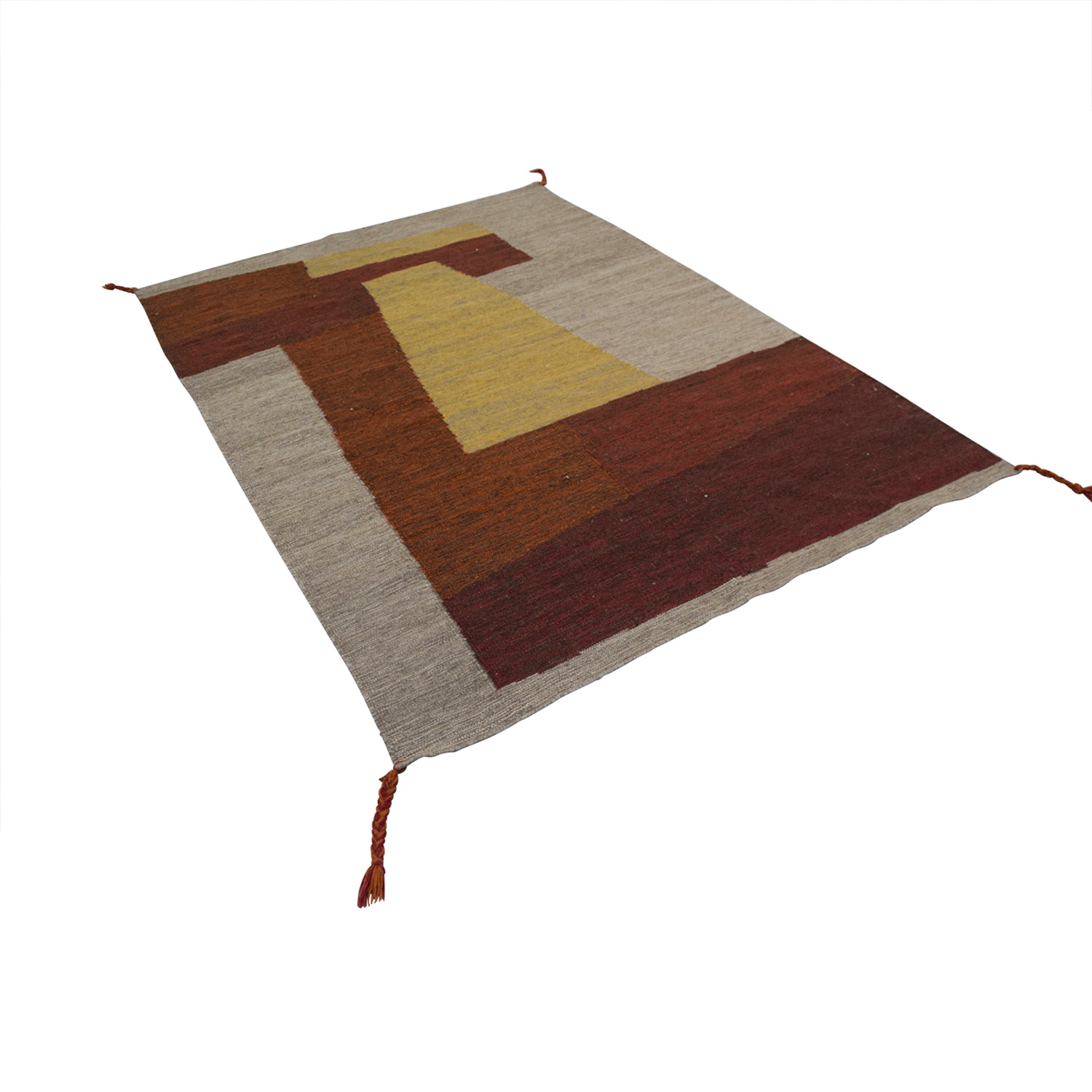 Obeetee Color Block Wool Rug / Rugs