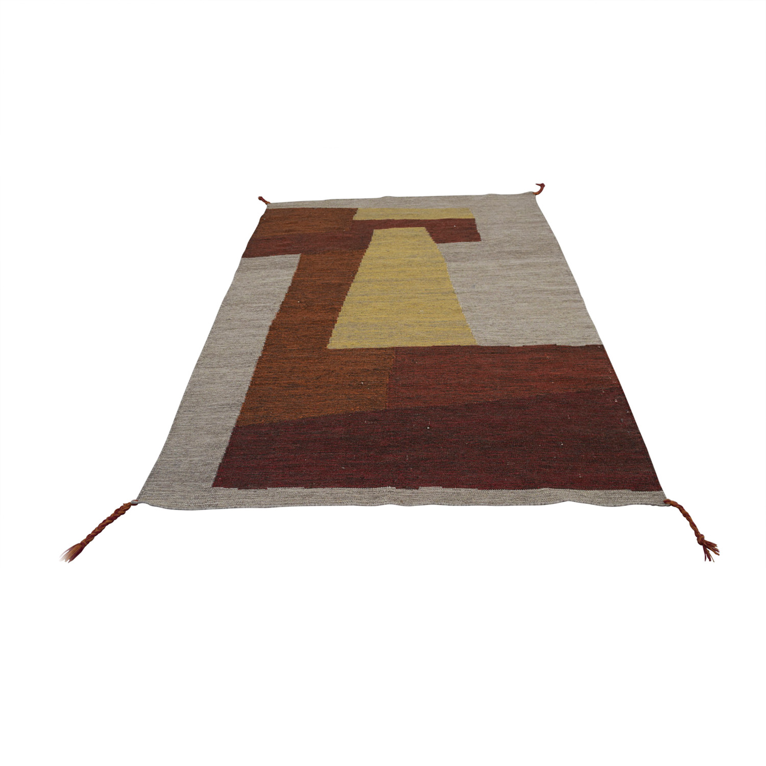shop Obeetee Color Block Wool Rug Obeetee