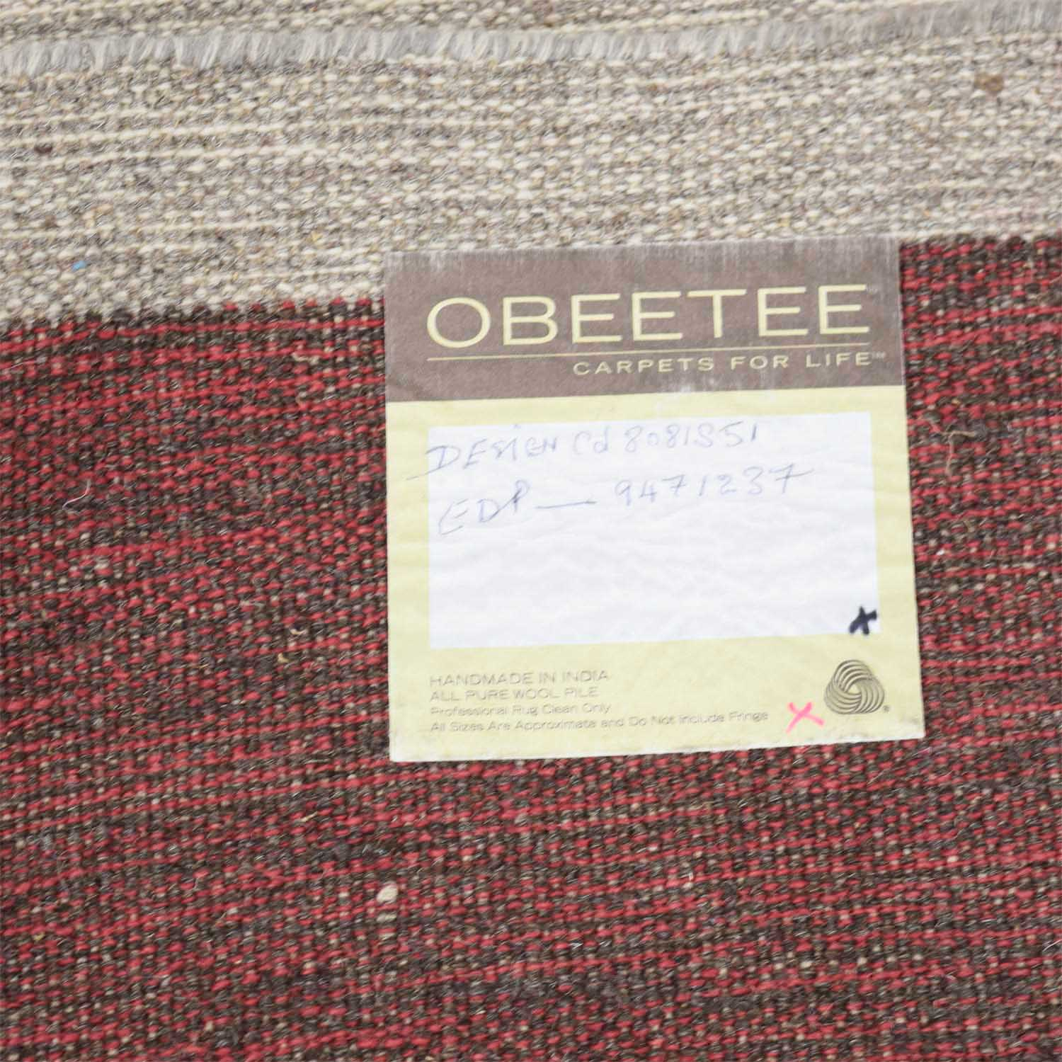 buy Obeetee Color Block Wool Rug Obeetee Decor
