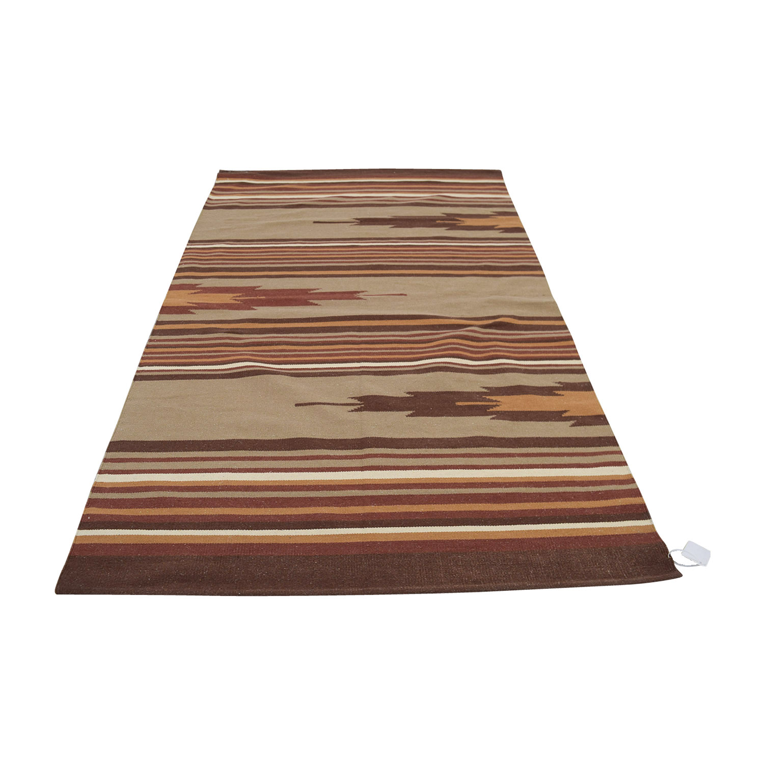 Obeetee Obeetee Red Striped Dhurrie Weave Rug price
