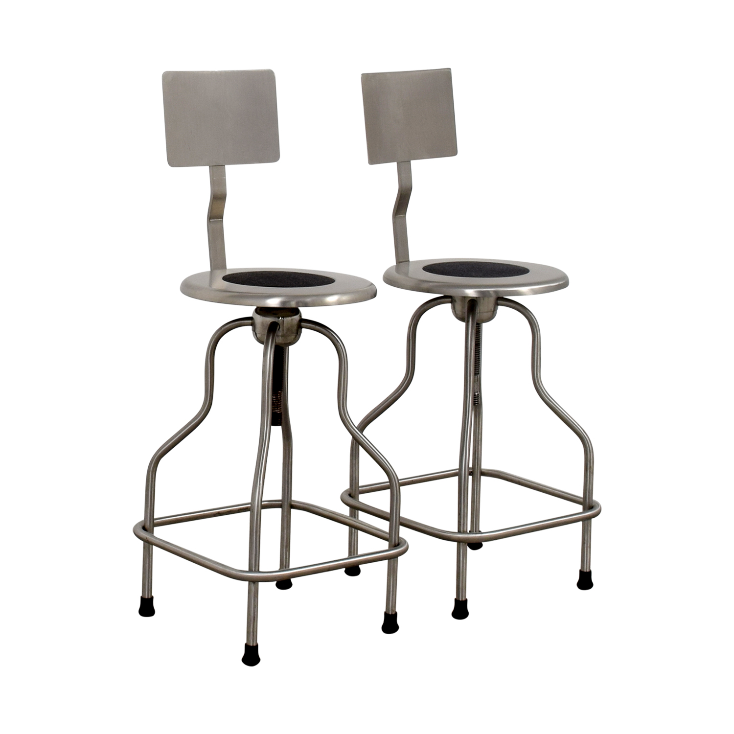 61 off design within reach design within reach steel precision stools with back rest chairs - Design within reach bed frame ...