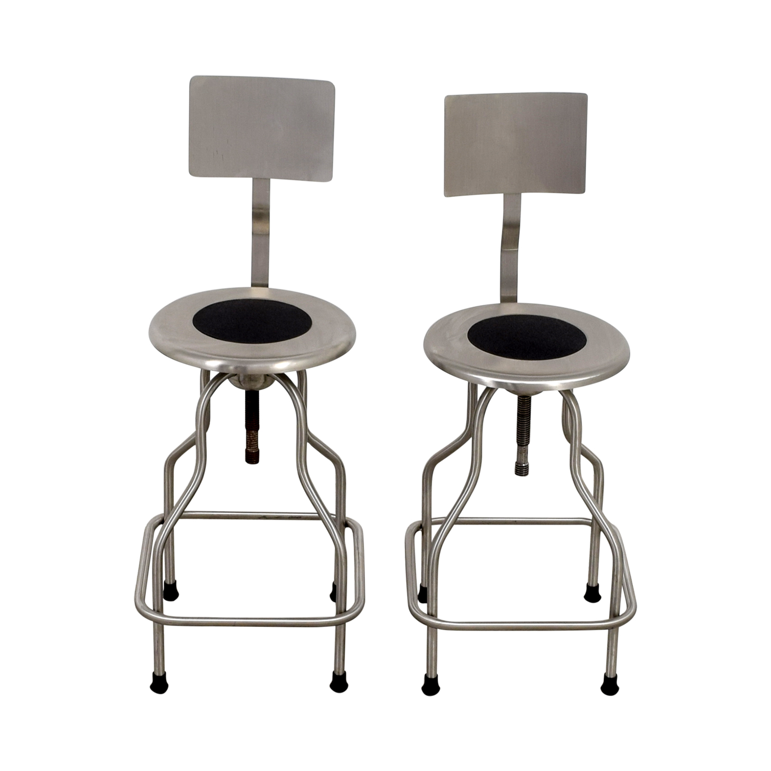 Design Within Reach Steel Precision Stools with Back Rest sale