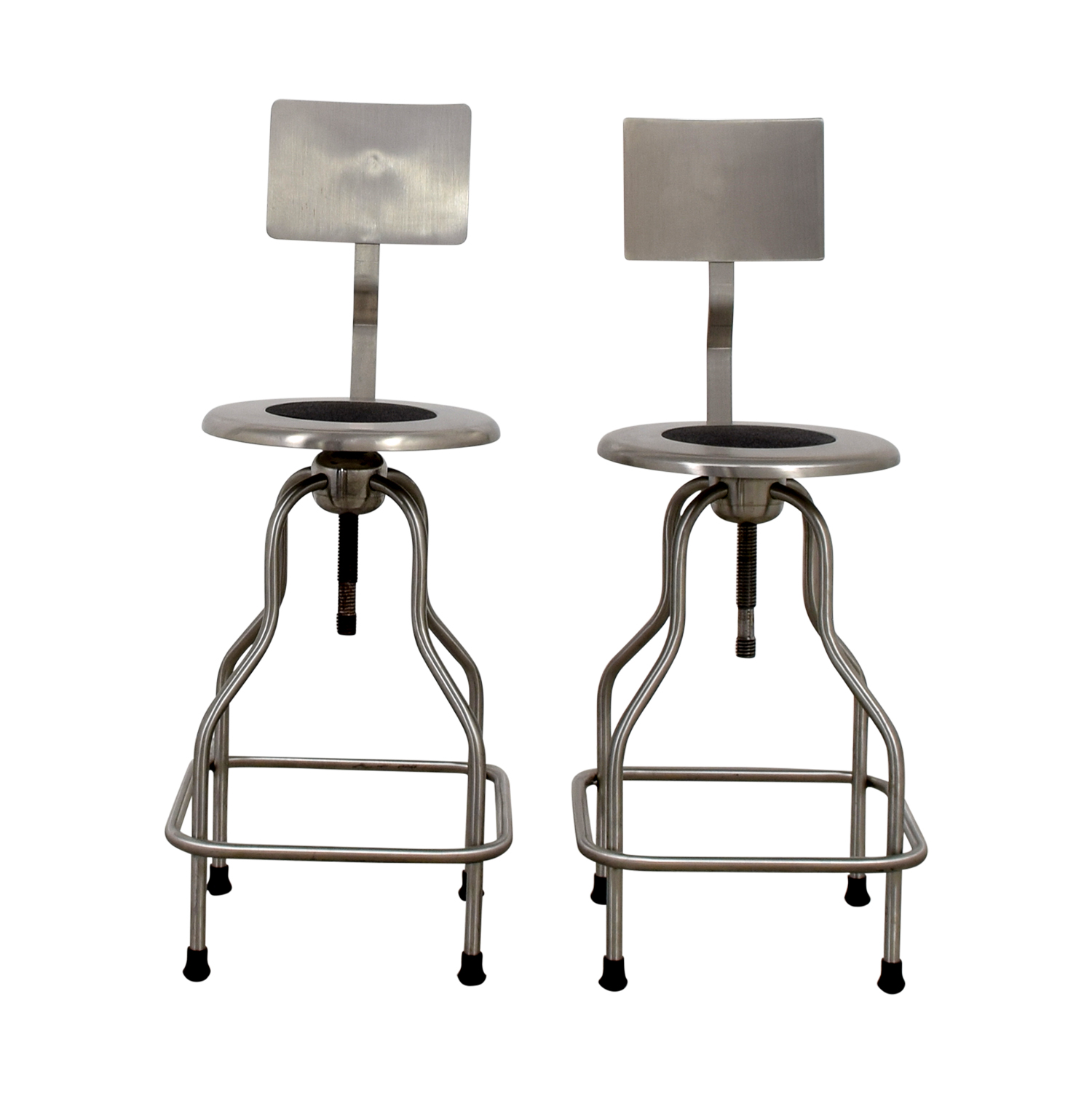 shop Design Within Reach Steel Precision Stools with Back Rest Design Within Reach