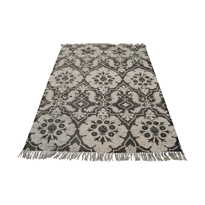 Obeetee Obeetee Grey Floral Rug used