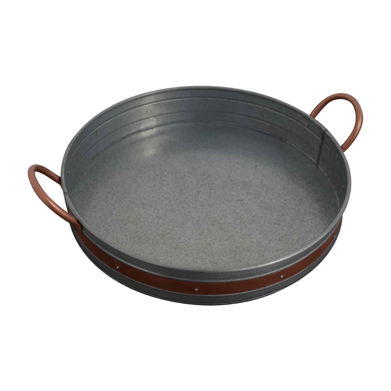 Round Metal Basket Decor