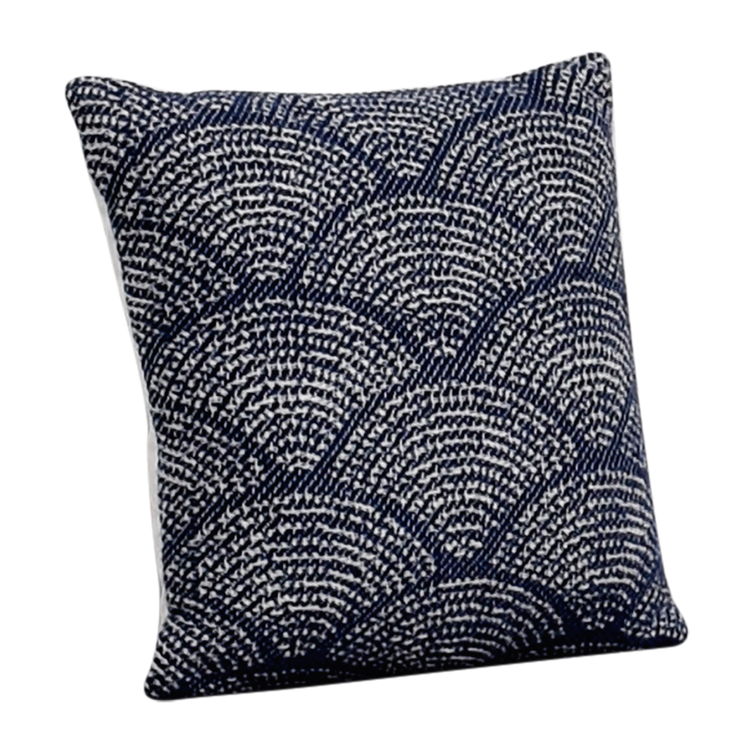 shop Obeetee Obeetee Navy and White Scalloped Toss Pillow online