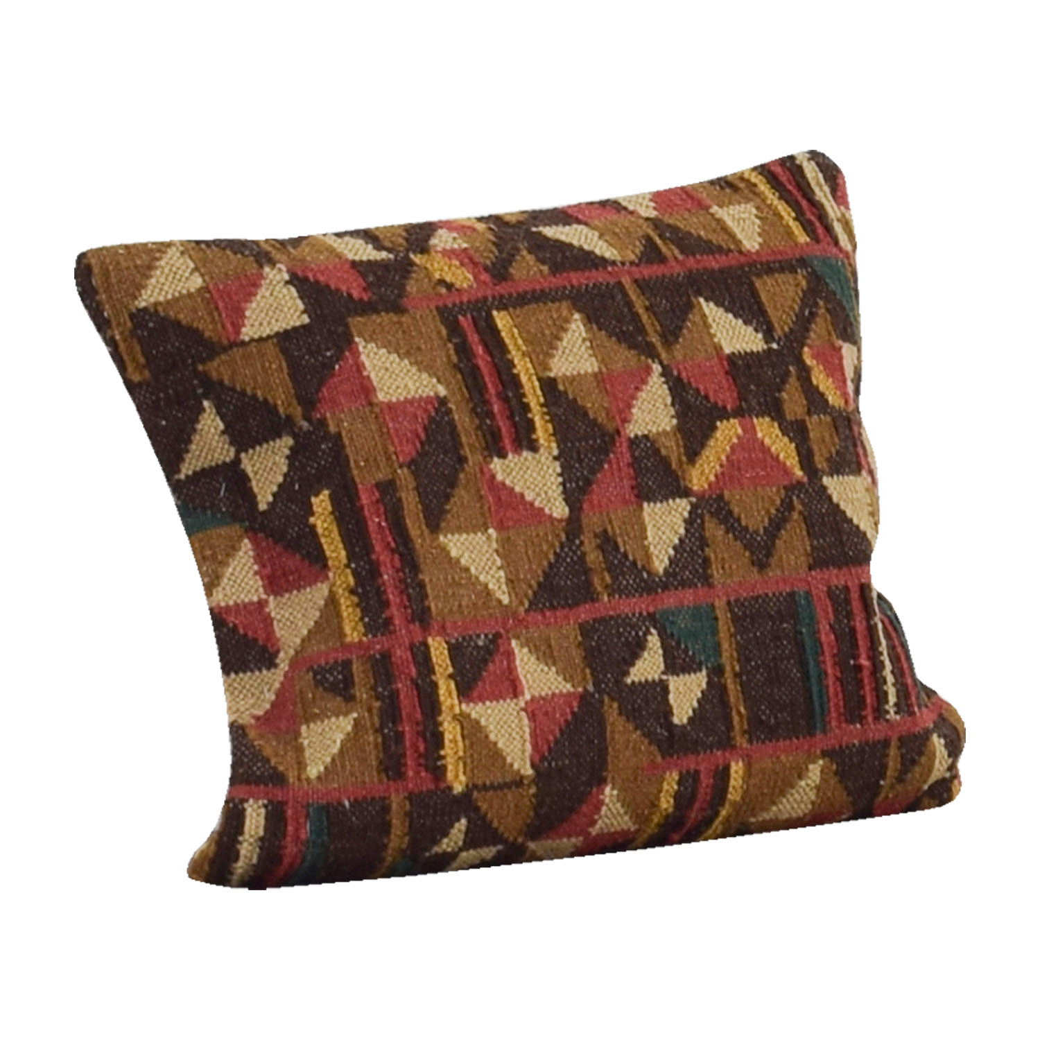 Obeetee Obeetee Brown Red and Beige Textual Toss Pillow price