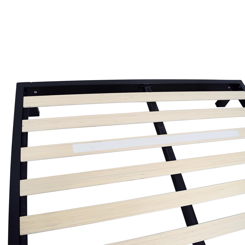 Black Metal Queen Platform Bed Frame dimensions