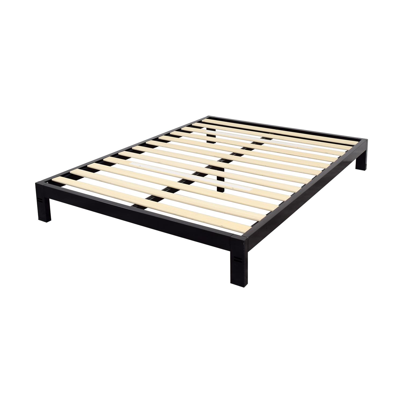 Black Metal Queen Platform Bed Frame / Beds