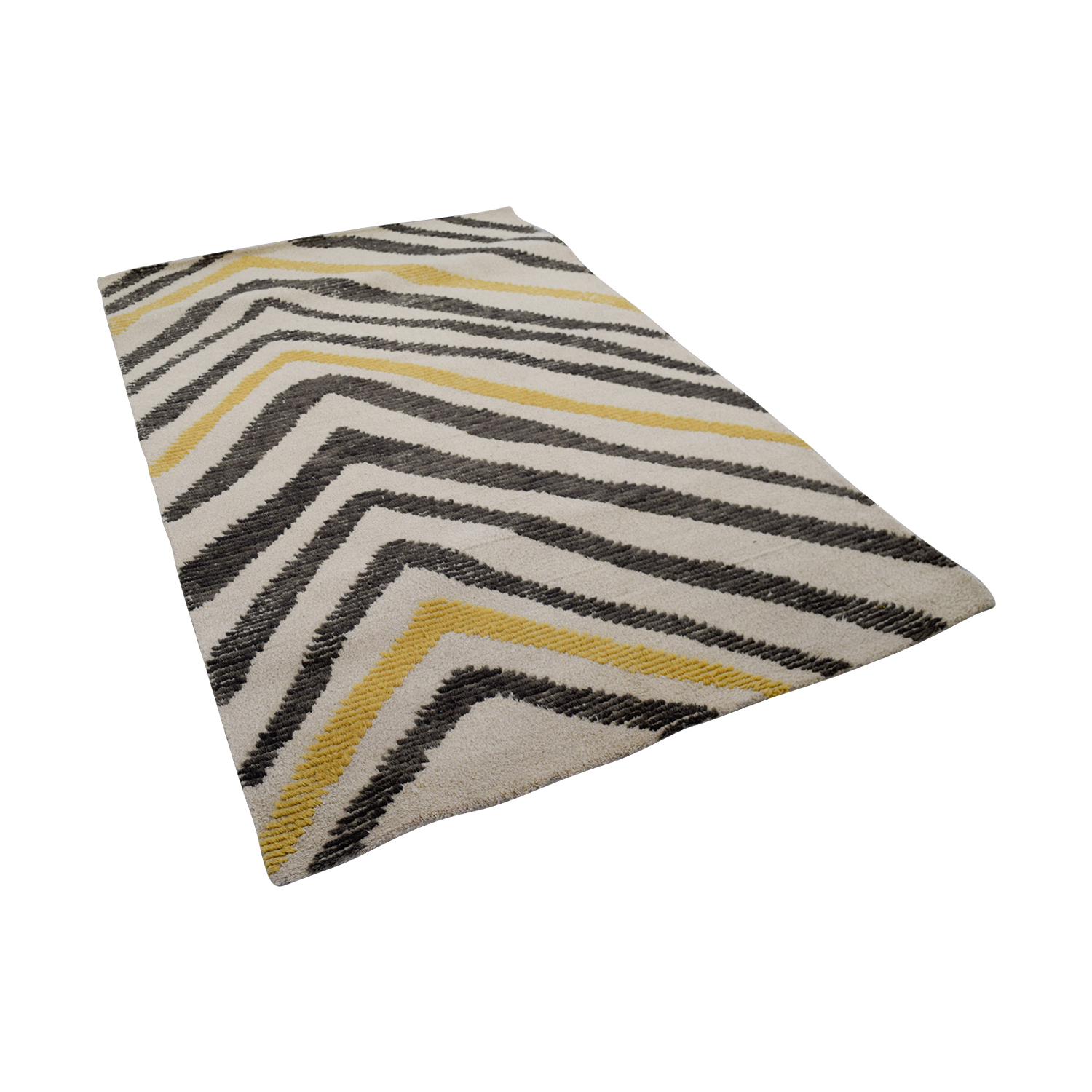 buy Obeetee Obeetee Motion Grey and Yellow Rug online