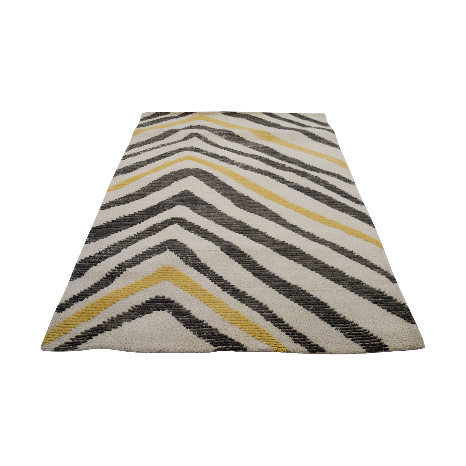 Obeetee Obeetee Motion Grey and Yellow Rug Beige/Brown/Tan