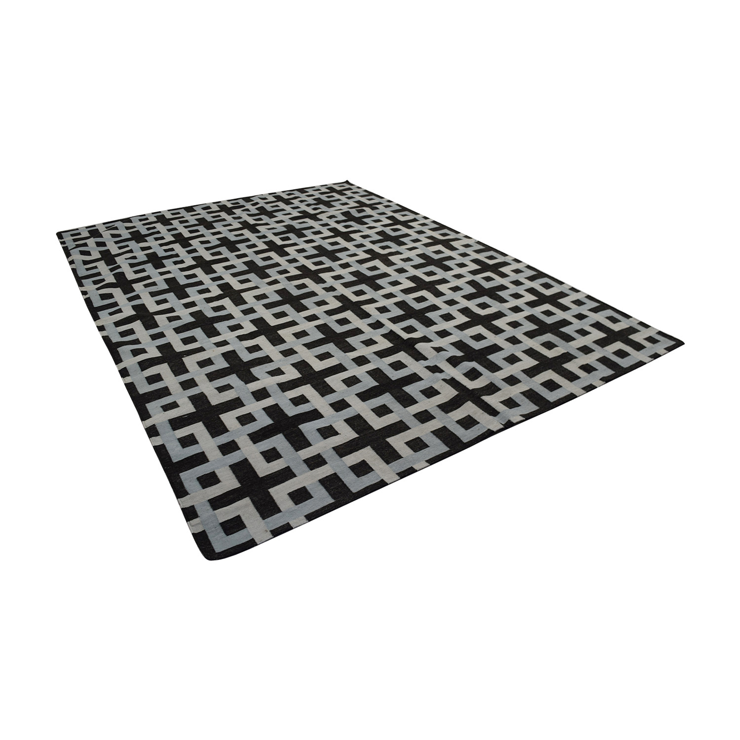 Obeetee Square Geometric Weave Rug Obeetee