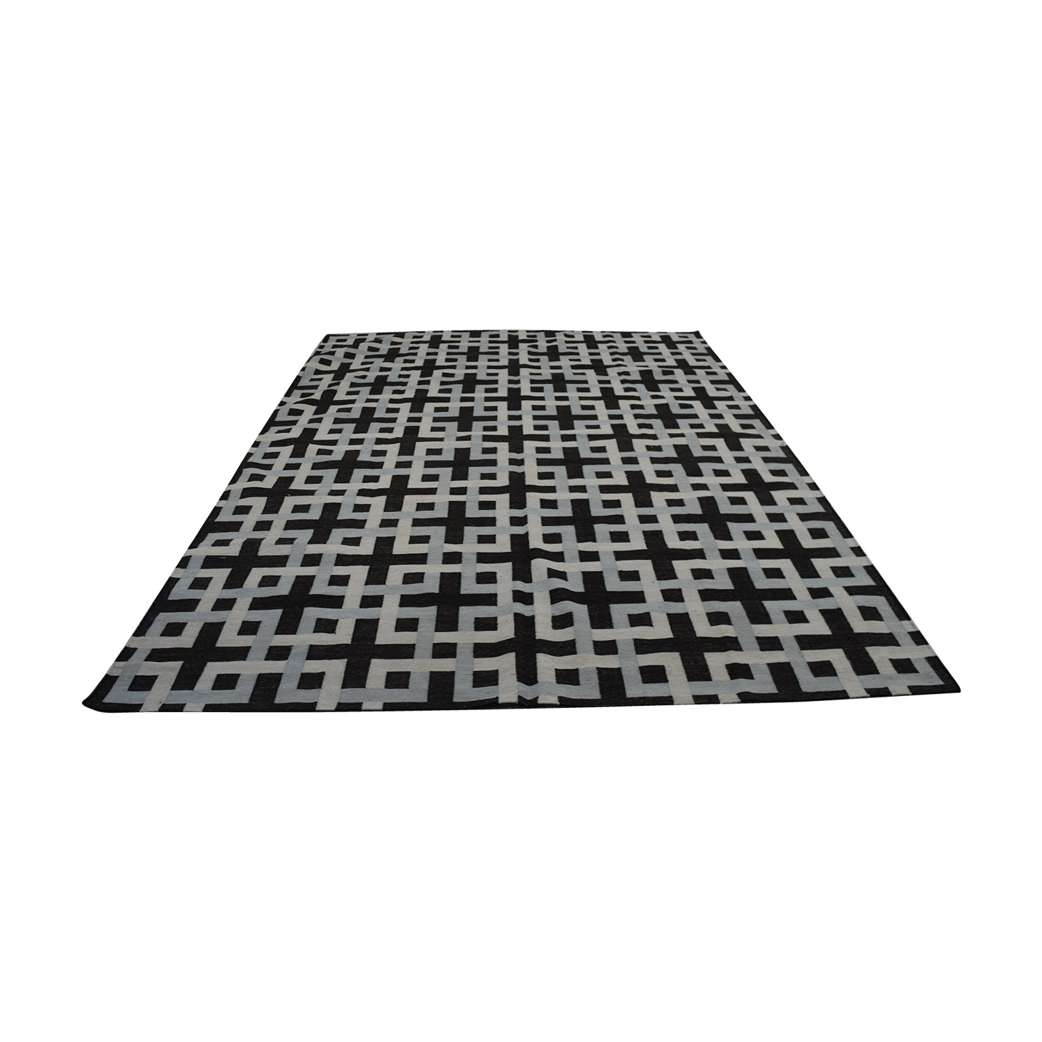 Obeetee Obeetee Square Geometric Weave Rug on sale