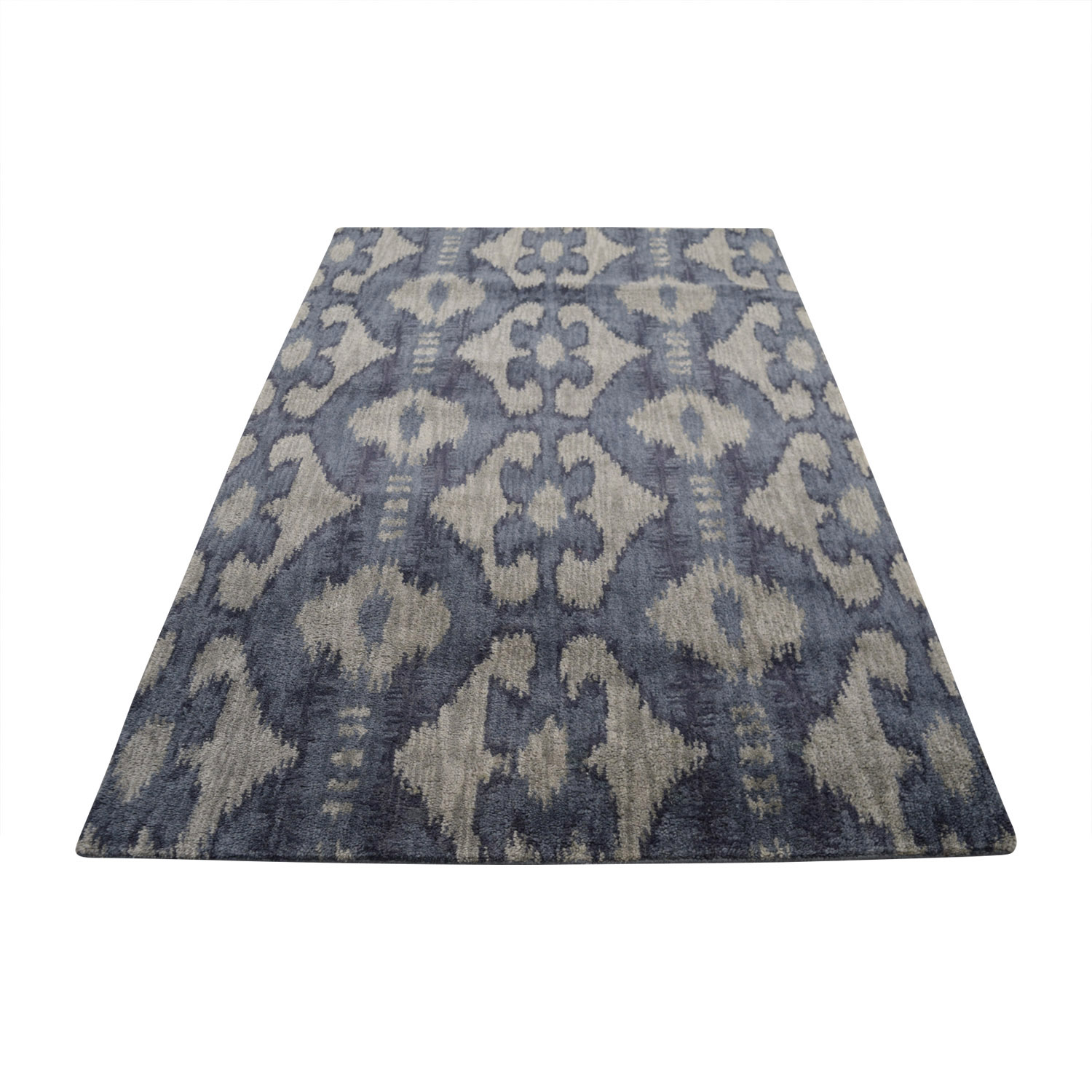 shop Obeetee Obeetee Hand Tufted Grey and Blue Rug online