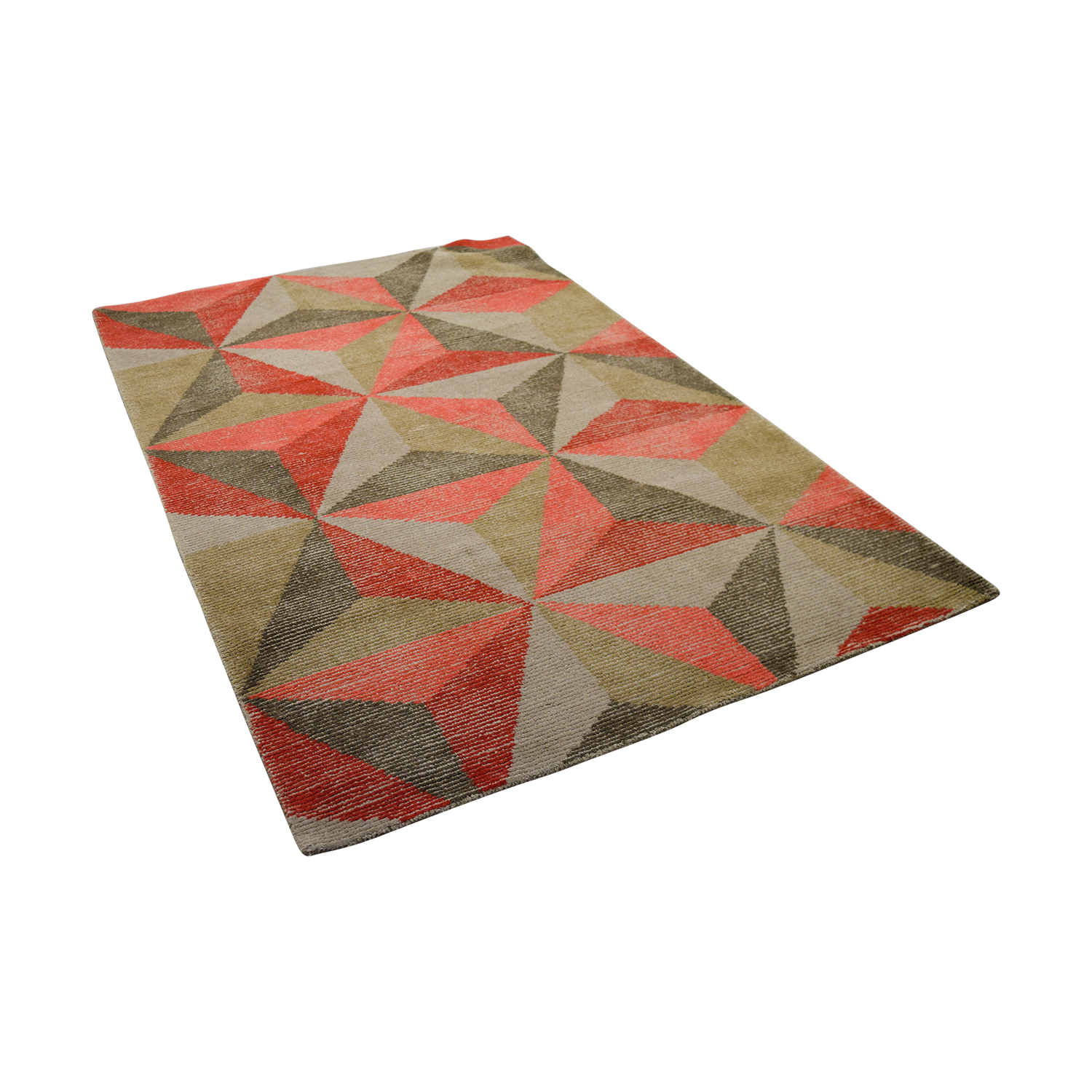 Obeetee Obeetee Geometric Tufted Wool Rug Rugs