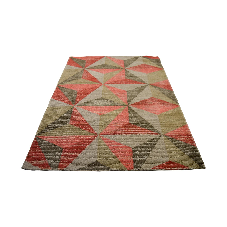 Obeetee Geometric Tufted Wool Rug Obeetee