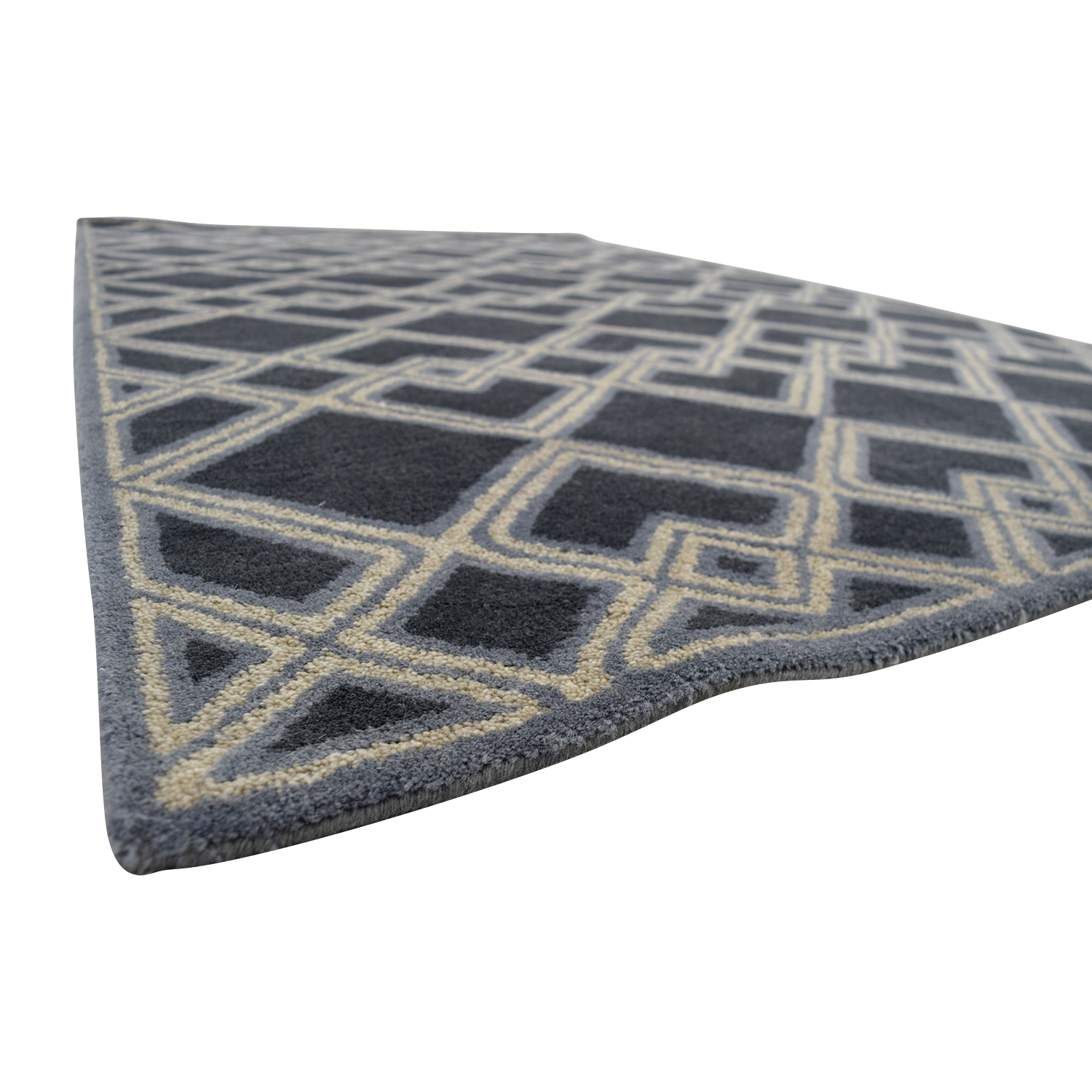 Obeetee Obeetee 5 X 8 Blue Hand Tufted Wool Rug nyc
