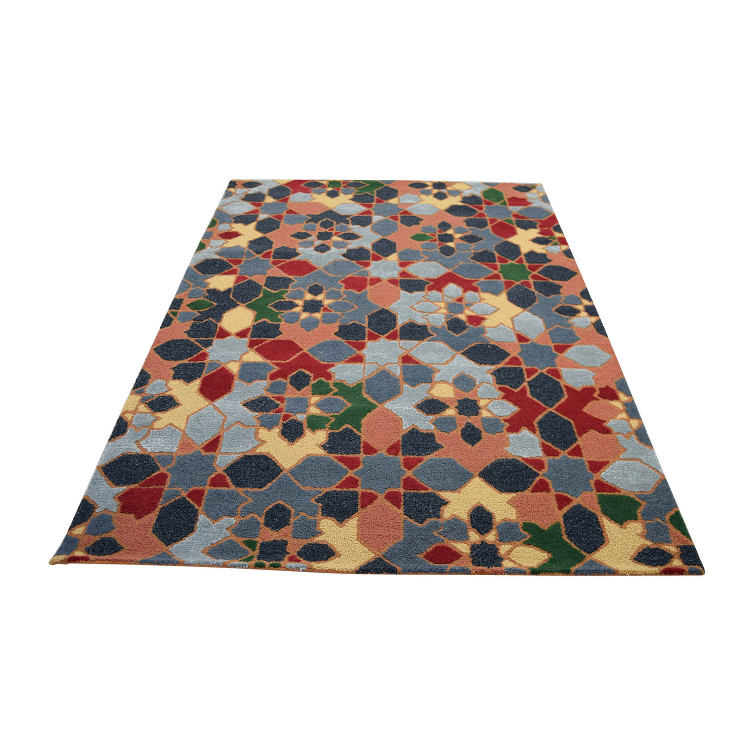 Obeetee Obeetee Colorful Floral Rug used