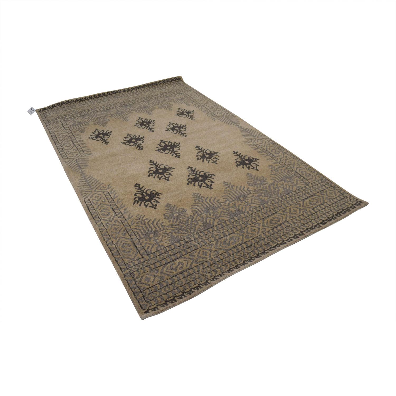 buy Obeetee Obeetee Beige Hand Tufted Wool Rug online