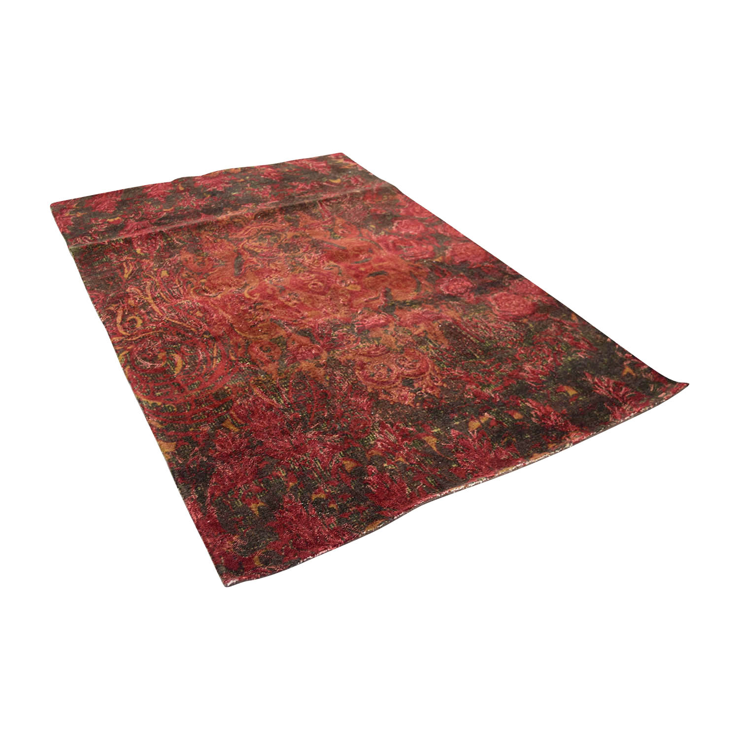 shop Obeetee 5 X 8 Red Mahira Wool Rug Obeetee Decor