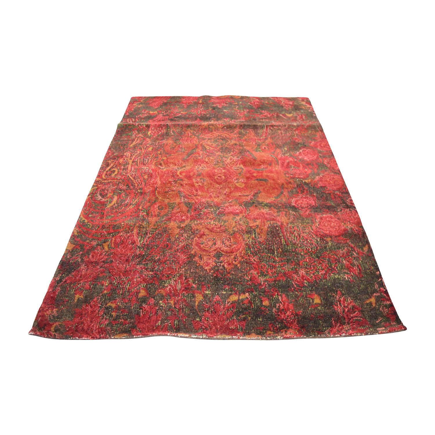 Obeetee Obeetee 5 X 8 Red Mahira Wool Rug on sale