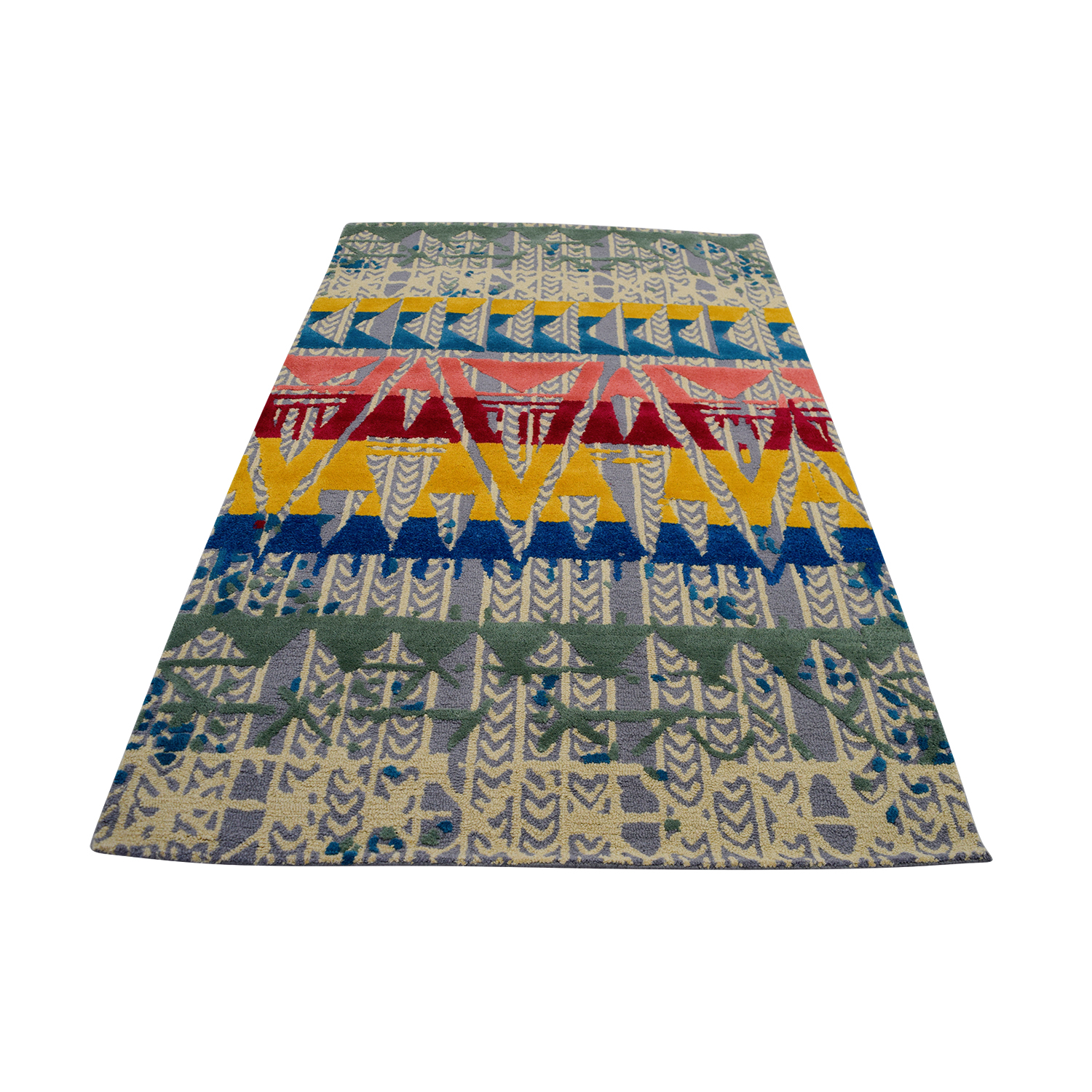 Obeetee Obeetee Hand Tufted Multi-Colored Wool Rug Decor