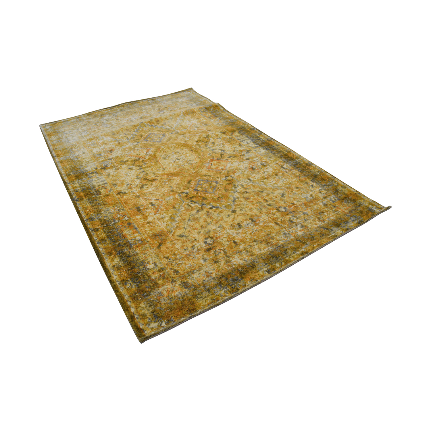Obeetee Obeetee Yellow Hand Tufted Wool Rug Rugs