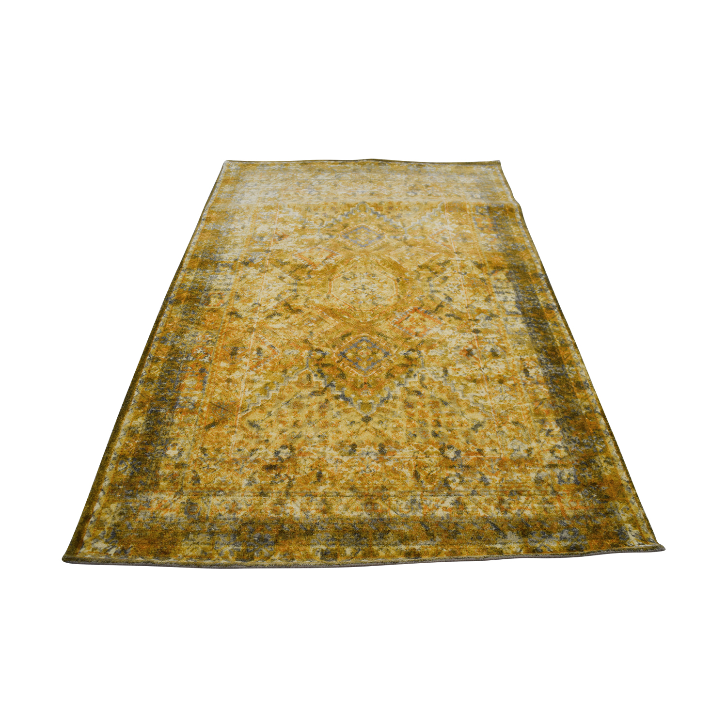 shop Obeetee Yellow Hand Tufted Wool Rug Obeetee