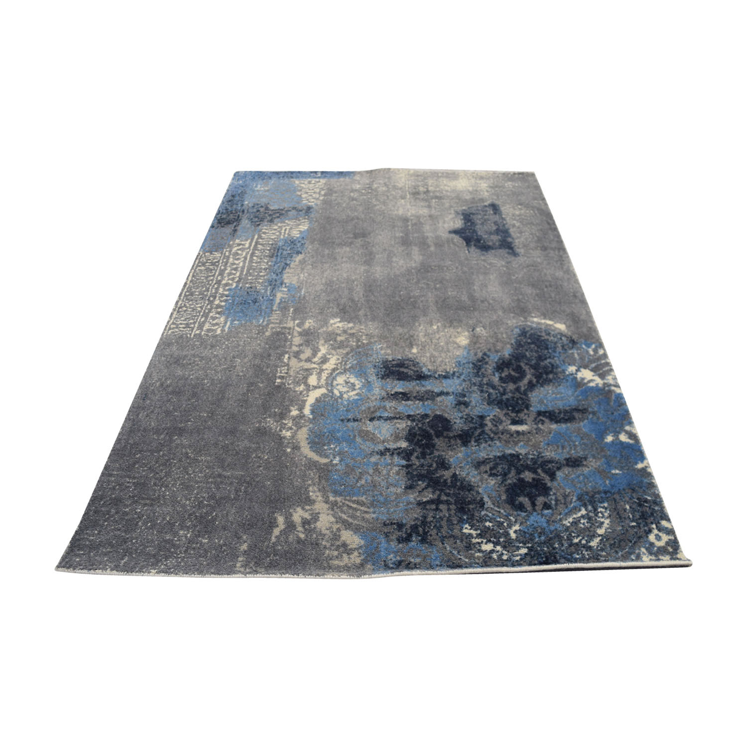 87 Off Obeetee Blue Grey Hand Tufted Wool Rug Decor