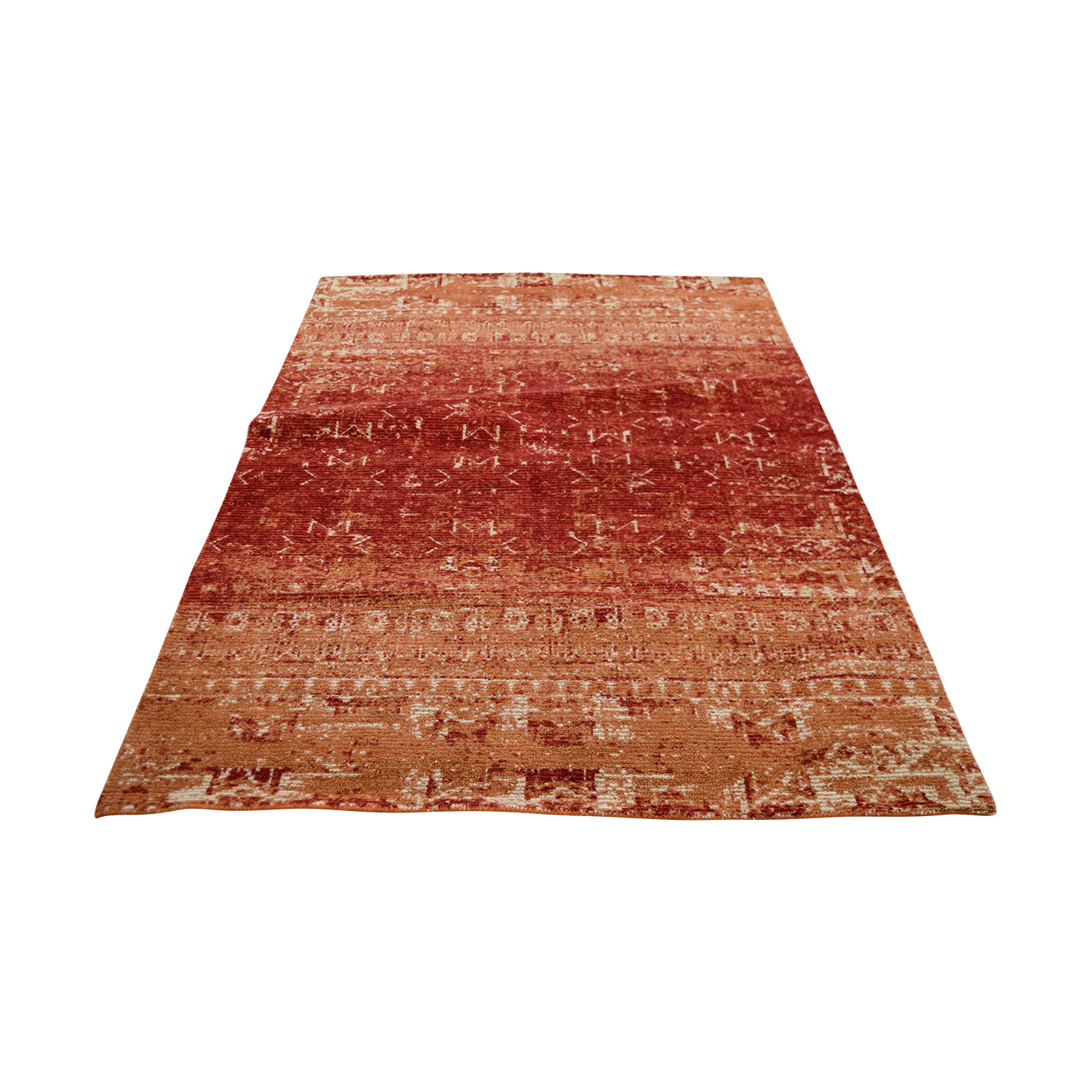 Obeetee Obeetee Red and Beige Wool Rug on sale