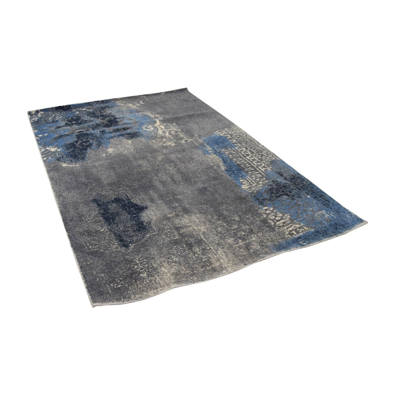 buy Obeetee Blue Grey Wool Rug Obeetee