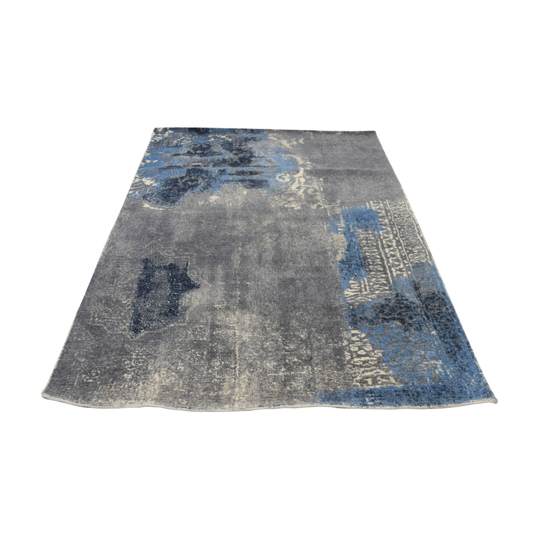 shop Obeetee Obeetee Blue Grey Wool Rug online