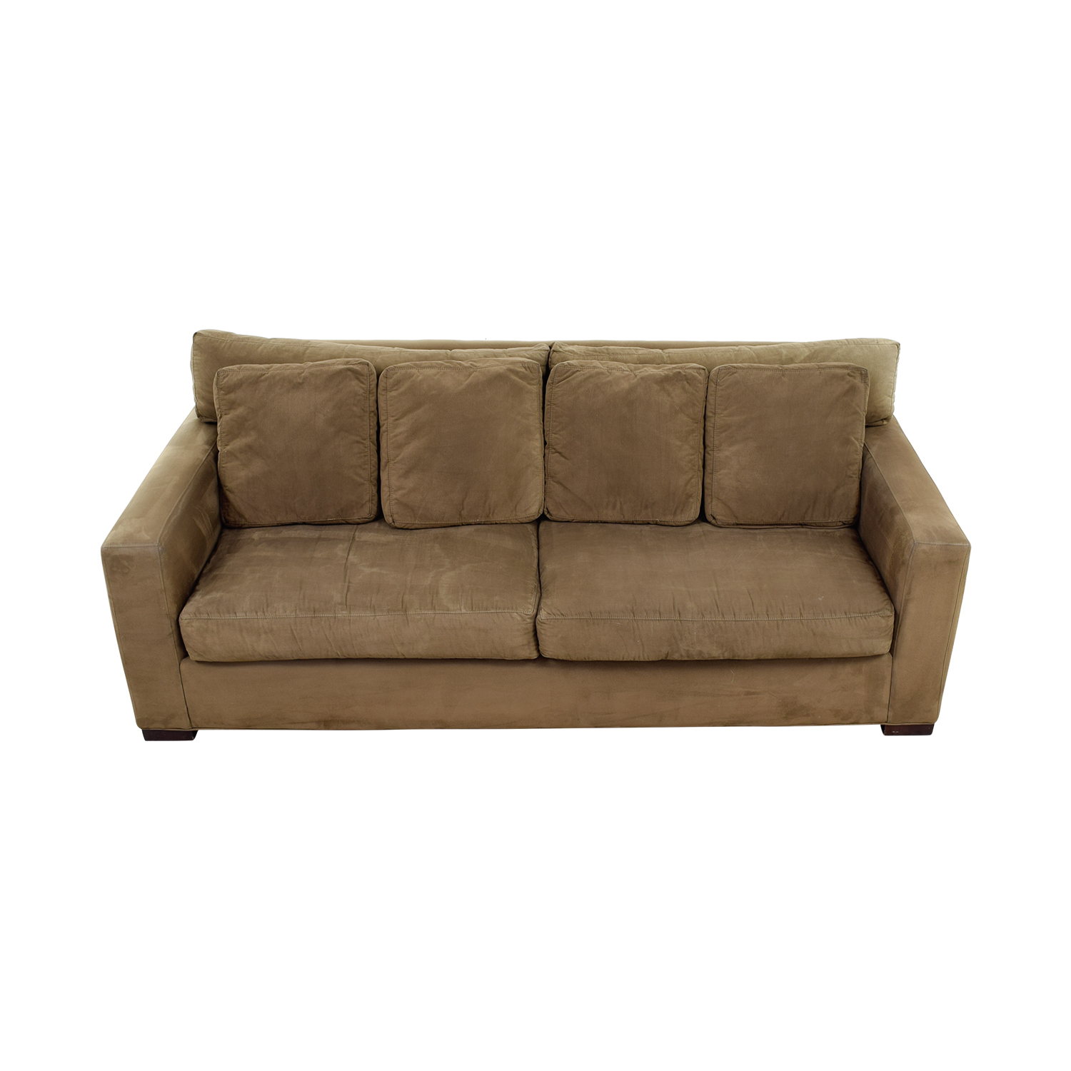 shop Crate & Barrel Crate & Barrel Axis II Brown Two-Cushion Sofa online