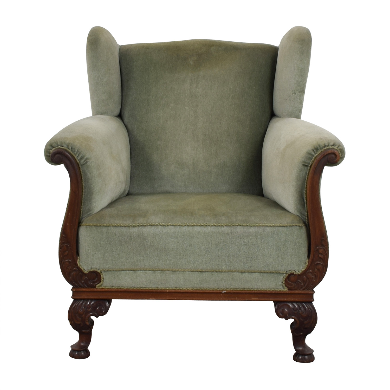 Scandanavian Green Club Chair / Accent Chairs