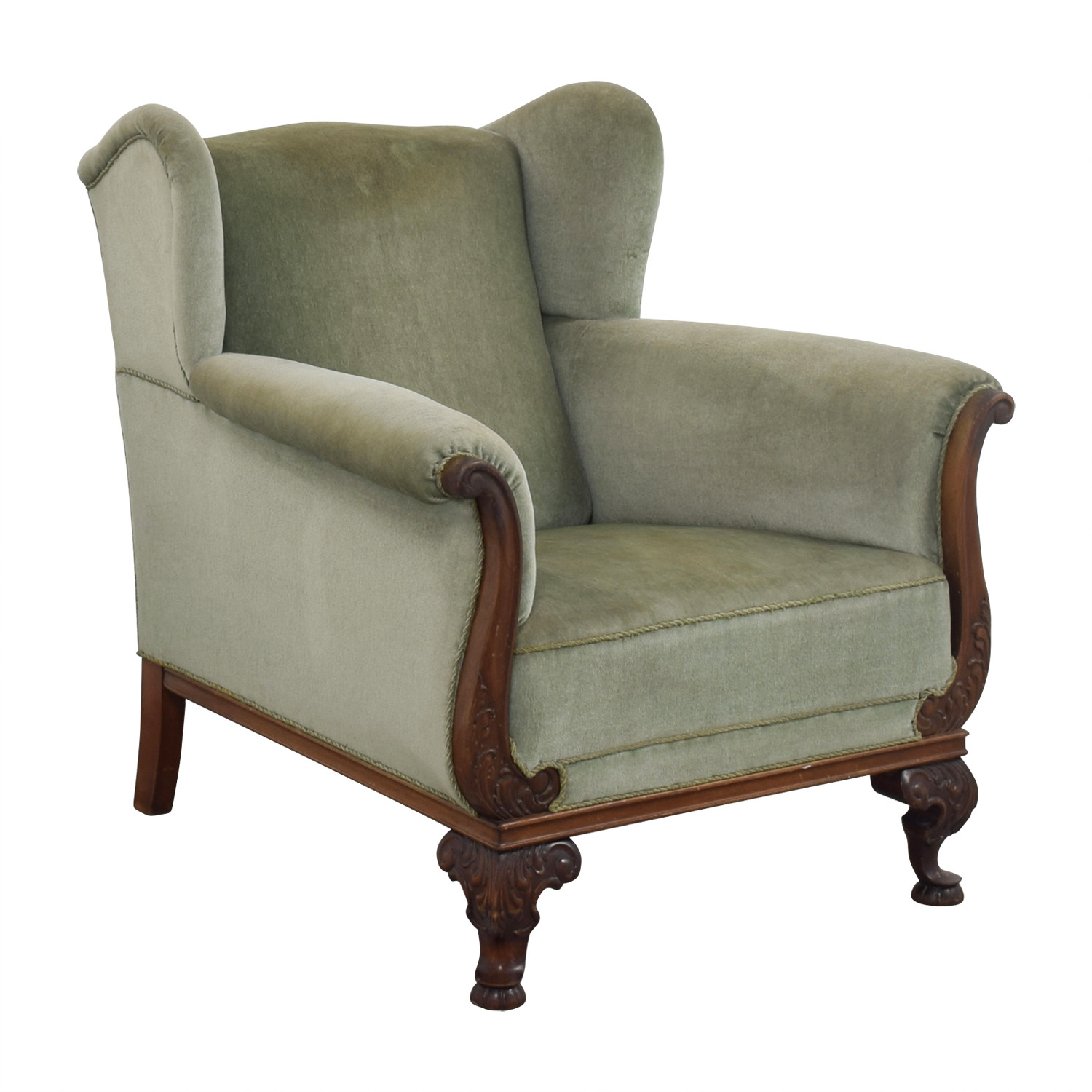 90 off scandanavian green club chair chairs for Furniture 90 off