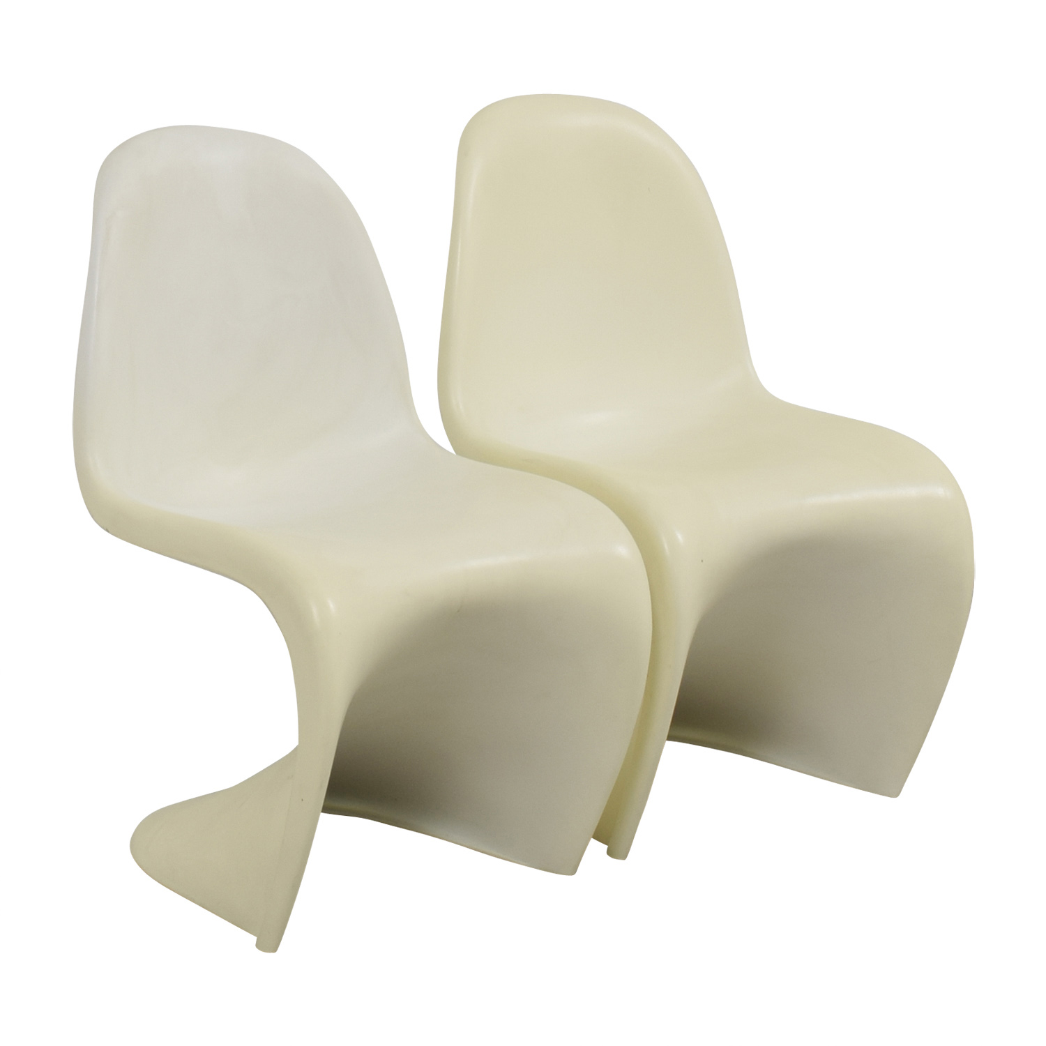 ... Vintage White Mod Chairs Second Hand ...