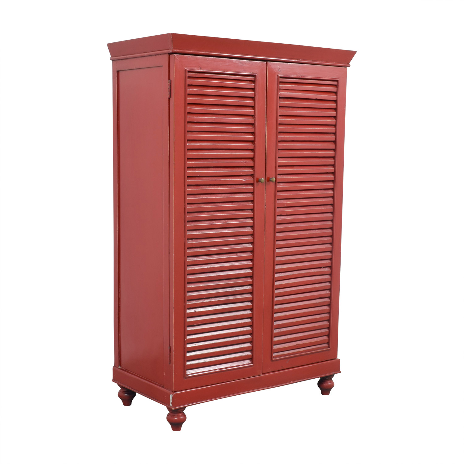 ... Red Armoire With Interior Shelving Discount ...