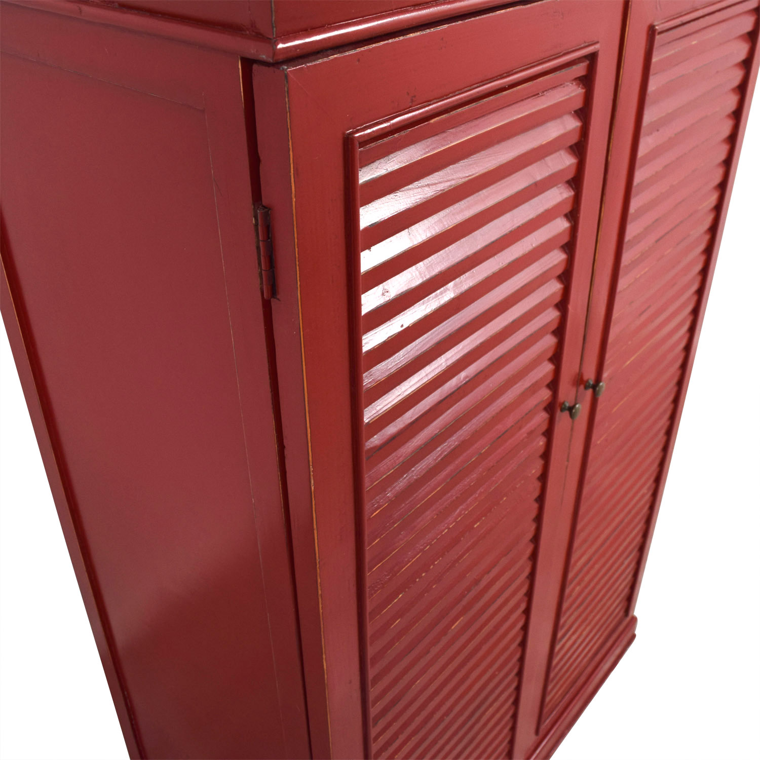 ... Shop Red Armoire With Interior Shelving Storage ...