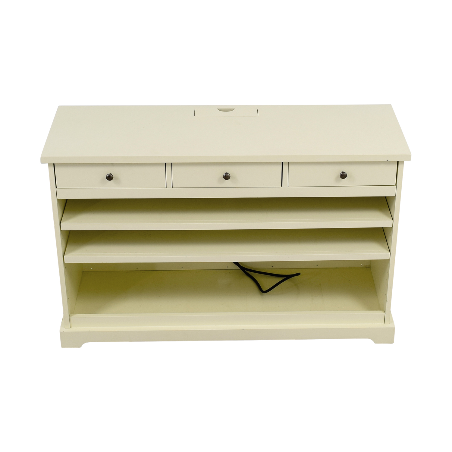 Pottery Barn White Media Console sale